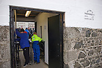 Supporters paying their admission money at the turnstile at Bellslea Park, home of Fraserburgh FC, prior to the club's Highland League fixture against visitors Strathspey Thistle. Nicknamed 'The Broch,' Fraserburgh have been members of the Highland League since 1921 having been formed 11 years earlier. The match ended in a 2-2 draw in front of a crowd of 302.