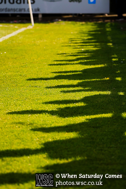 Shadows of fans on the pitch. Vanarama National League North, Promotion Final, North Ferriby United v AFC Fylde, 14th May 2016.