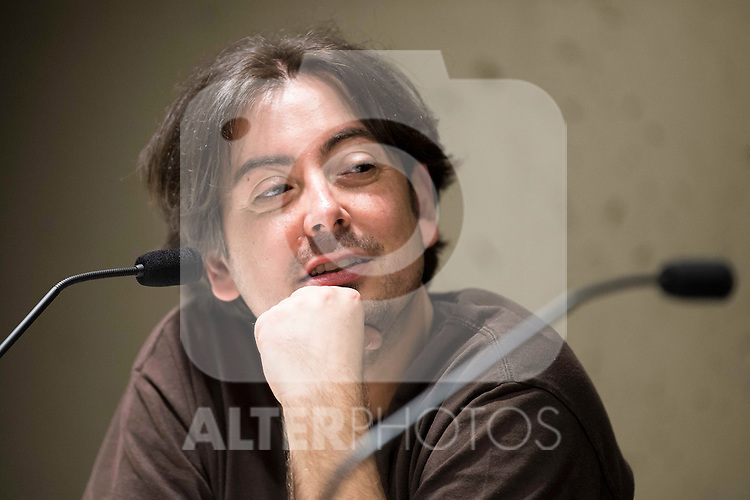 "The director of the Nocturna Film Festival, Luis Rosales during the press conference to present the book ""John Landis. Un Hombre Lobo en Hollywood"" in Madrid. May 27, 2016. (ALTERPHOTOS/Borja B.Hojas)"