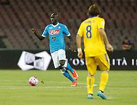 Kalidou Koulibaly  durante l'incontro di calcio di Serie A   Napoli -Sampdoria allo  Stadio San Paolo  di Napoli , 30 Agosto 2015