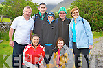 Pictured at Cronins Yard, Beaufort, for the start of the Mags O'Connor memorial climb of Carrauntuohill, in aid of Aware on Saturday were Paula and Marie O'Connor, Vincent O'Connor, Paul Kennedy, Sean McMahon, Rory McMahon and Patricia McMahon..
