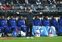 Trainer Domenico Tedesco (FC Schalke 04) - 16.12.2017: Eintracht Frankfurt vs. FC Schalke 04, Commerzbank Arena, 17. Spieltag Bundesliga