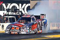 Jul. 25, 2014; Sonoma, CA, USA; NHRA funny car driver Matt Hagan during qualifying for the Sonoma Nationals at Sonoma Raceway. Mandatory Credit: Mark J. Rebilas-