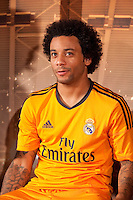Real Madrid´s Marcelo during the official presentation of the Adidas team´s football kit for the 2013-14 Champions League season in Europe tower, Madrid. September 12, 2013. (ALTERPHOTOS/Victor Blanco) /NortePhoto.com