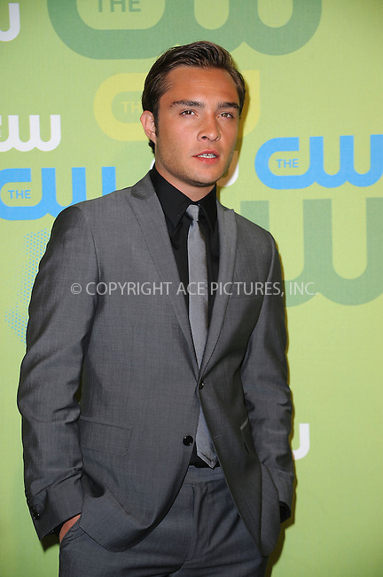 WWW.ACEPIXS.COM . . . . . ....May 21 2009, New York City....Ed Westwick arriving at the 2009 The CW Network UpFront at Madison Square Garden on May 21, 2009 in New York City.....Please byline: KRISTIN CALLAHAN - ACEPIXS.COM.. . . . . . ..Ace Pictures, Inc:  ..tel: (212) 243 8787 or (646) 769 0430..e-mail: info@acepixs.com..web: http://www.acepixs.com
