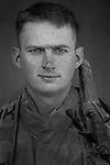 Lcpl. Stephen Tatum, 24, Oklahoma City, Oklahoma, 3rd Platoon, Kilo Co., 3rd Battalion 1st Marines, 1st Marine Division, United States Marine Corps, at the company's firm base in Haditha, Iraq on Sunday Oct. 22, 2005.