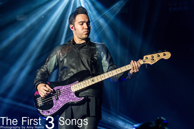 Pete Wentz of Fall Out Boy performs at the 2014 Bunbury Music Festival in Cincinnati, Ohio