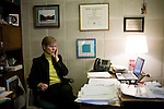 March 17, 2009. Raleigh, NC.. Images from one day in the life of Deborah K. Ross, Representative for North Carolina House District 38.. 9:26 AM. Ross reviews upcoming bills and email to prepare for the day ahead. She fields phone calls from constituents and colleagues.