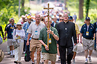 June 5, 2015; Pilgrimage to Fr. Hesburgh's grave, Reunion 2015. (Photo by Matt Cashore/University of Notre Dame)