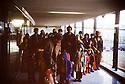 France 1991.Arrival in Paris of Kurdish refugees