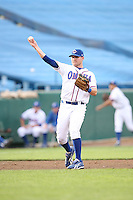 June 2, 2009: Travis Metcalf (8) of the Omaha Royals at Rosenblatt Stadium in Omaha, NE.  Photo by: Chris Proctor/Four Seam Images