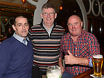 Peter McGuirk celebrating his 60th birthday in the Thatch with friends Eugene Curley and Martin Neilis. Photo:Colin Bell/pressphotos.ie