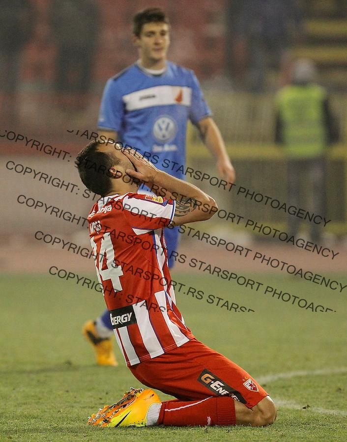 Fudbal Kup Srbije season 2013-2014<br /> Crvena Zvezda v Vojvodina<br /> Dragan Mrdja (C) reacts<br /> Beograd, 04.12.2013.<br /> foto: Srdjan Stevanovic/Starsportphoto &copy;