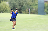 Maria Torres (PRI) plays her 2nd shot on the 13th hole during Thursday's Round 1 of The Evian Championship 2018, held at the Evian Resort Golf Club, Evian-les-Bains, France. 13th September 2018.<br /> Picture: Eoin Clarke | Golffile<br /> <br /> <br /> All photos usage must carry mandatory copyright credit (&copy; Golffile | Eoin Clarke)