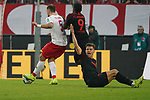 30.11.2019, RheinEnergieStadion, Koeln, GER, 1. FBL, 1.FC Koeln vs. FC Augsburg,<br />  <br /> DFL regulations prohibit any use of photographs as image sequences and/or quasi-video<br /> <br /> im Bild / picture shows: <br /> Florian Niederlechner (FC Augsburg #7),   reklamiert nach einem foul von Rafael Czichos (FC Koeln #5),   <br /> <br /> Foto © nordphoto / Meuter
