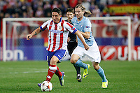 Cristian Rodriguez of Atletico de Madrid during Champios Legue soccer match between Atletico de Madrid V Malmoe al Vicente Calderon Stadium. October 22, 2014. (ALTERPHOTOS/Caro Marin)