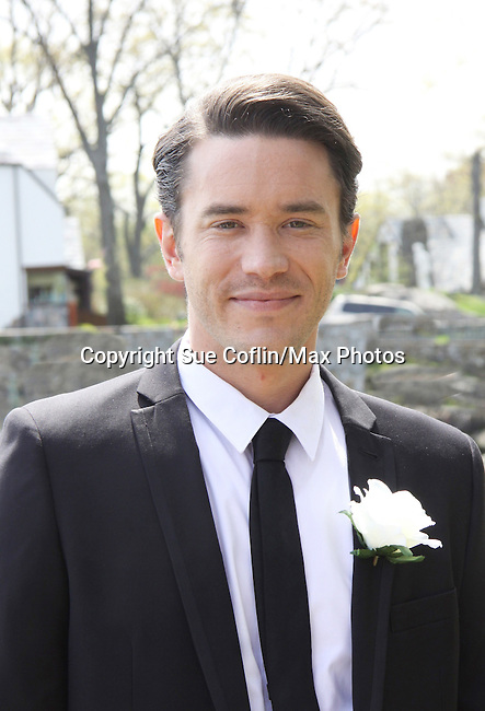 "Guiding Light Tom Pelphrey on set - Shooting on May 1, 2011 - ""Excuse Me For Living"" - A Romantic Comedy - an Independent Film written, directed and produced by Ric Klass. (Photos by Sue Coflin/Max Photos)"