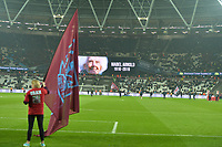 Oldest West Ham season tickets holder Mabel Arnold receives a standing ovation during West Ham United vs Fulham, Premier League Football at The London Stadium on 22nd February 2019