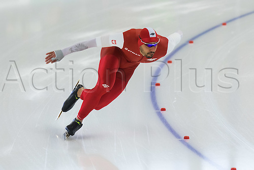 January 29th 2017, Sportforum, Berlin, Germany; ISU Speed Skating World Cup;  ISU Speed Skating World Cup , 500m Division A; Artur Was (POL)