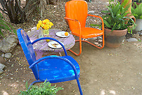 Garden chairs in Tucson Botanical Gardens. Tucson. Arizona