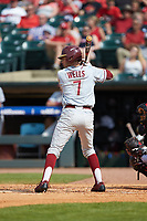 Steven Wells, Jr. (7) of the Florida State Seminoles at bat against the Louisville Cardinals in Game Eleven of the 2017 ACC Baseball Championship at Louisville Slugger Field on May 26, 2017 in Louisville, Kentucky. The Seminoles defeated the Cardinals 6-2. (Brian Westerholt/Four Seam Images)