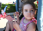 Larissa Nelson, 2, waits with her family for the start of the Veterans Suicide Awareness walk to Western Nevada College in Carson City, Nev., on Saturday, May 2, 2015. Several hundred people took part in the event in support of the more than 8,000 veterans who commit suicide each year in the U.S. <br /> Photo by Cathleen Allison/Nevada Photo Source