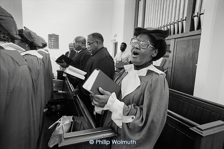 Sunday morning service in Harlesden Methodist Church, West London.