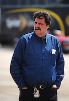 Apr 25, 2008; Talladega, AL, USA; Mike Helton president of the NASCAR Sprint Cup Series walks through the garage during practice for the Aarons 499 at Talladega Superspeedway. Mandatory Credit: Mark J. Rebilas-US PRESSWIRE