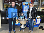 Dara, Lena and Ryan Keeley with the Sam Maguire cup when it visited Southgate Shopping Centre with St Colmcilles GFC. Photo:Colin Bell/pressphotos.ie