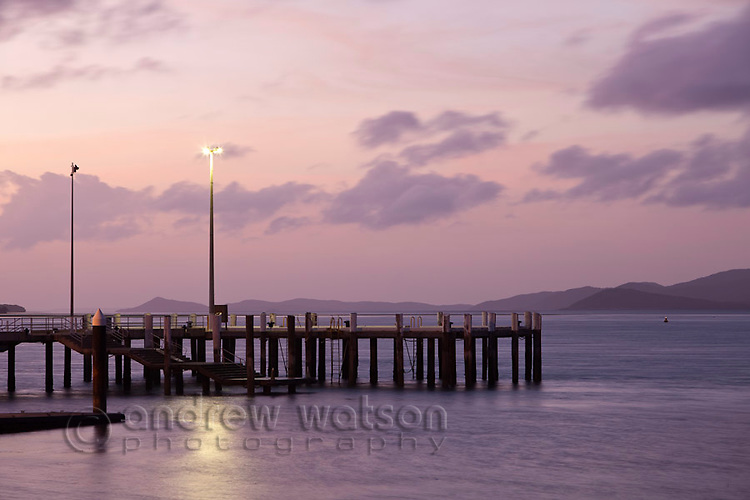Engineers Wharf at dusk.  Thursday Island, Torres Strait Islands, Queensland, Australia