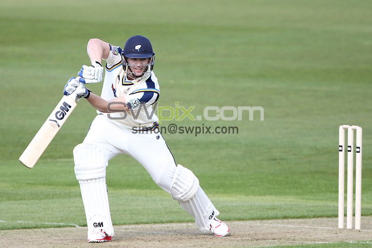 Picture by Alex Whitehead/SWpix.com - 07/04/2015 - Cricket - Yorkshire CCC v Leeds/Bradford MCCU - Day 1 - Headingley Stadium, Leeds, England - Yorkshire's Alex Lees hits out.