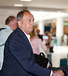 08.08.18 FK Maribor arrive at Glasgow airport: Maribor manager Darko Milanic
