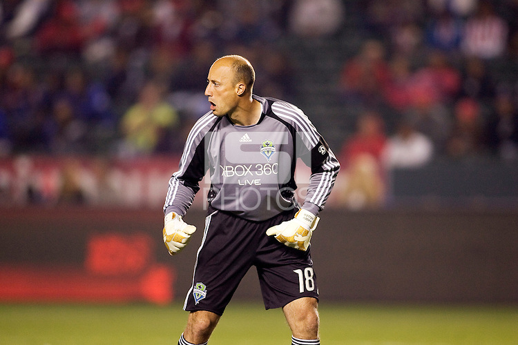 Seattle Sounders goalkeeper Kasey Keller. Chivas USA defeated the Seattle Sounders 1-0 at Home Depot Center stadium in Carson, California on Saturday evening June 6, 2009.   .