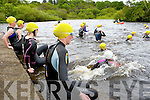 The athletes at the start of the Killarney Lions club triathlon at Ross Castle on Saturday....