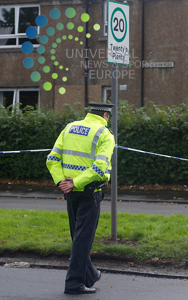 A man has died and another has been left seriously injured following an incident at a flat in Renfrewshire..Police were called to reports of a disturbance at the flat, in Glencairn Road, Paisley, at 22:25 on Wednesday..A 53-year-old man was found inside with serious injuries and was pronounced dead at the scene..Another man, aged 32, was also injured in the disturbance. He is in a serious but stable condition at Paisley's Royal Alexandra Hospital..Picture: /Universal News And Sport (Scotland). 4 October  2012. www.unpixs.com.