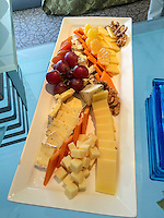 Peru.  Peruvian Cuisine.  Assorted Domestic and Imported Cheeses, Grapes, Walnuts.  Westin Lima Hotel and Convention Center.