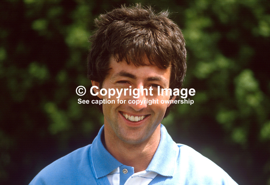 Martin Sludds, professional golfer, Rep of Ireland, competitor, Carrolls Irish Open Golf Championship, 1985. 19850607MS1..Copyright Image from Victor Patterson, 54 Dorchester Park, Belfast, UK, BT9 6RJ..Tel: +44 28 9066 1296.Mob: +44 7802 353836.Voicemail +44 20 8816 7153.Skype: victorpattersonbelfast.Email: victorpatterson@me.com.Email: victorpatterson@ireland.com (back-up)..IMPORTANT: If you wish to use this image or any other of my images please go to www.victorpatterson.com and click on the Terms & Conditions. Then contact me by email or phone with the reference number(s) of the image(s) concerned.