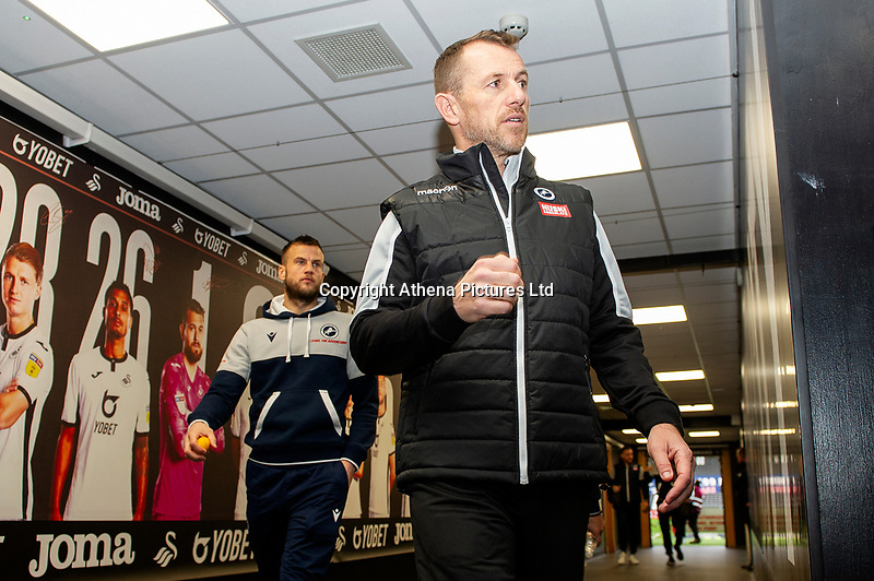 Gary Rowett Manager of Millwall arrives for the Sky Bet Championship match between Swansea City and Millwall at the Liberty Stadium in Swansea, Wales, UK. Saturday 23rd November 2019