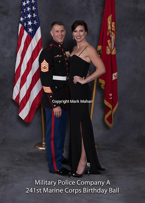 Jason Moods at the Military Police Company A 241 Marine Corps Birthday Ball, Saturday Nov. 19, 2016  in Lexington, Ky. Photo by Mark Mahan
