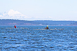 Port Townsend, Rat Island Regatta, rowers, Robin Pike; Ashland OR, MAAS Flyweight, John Heater, MAAS Flyweight, racing, Sound Rowers, Rat Island Rowing Club, Puget Sound, Olympic Peninsula, Washington State, water sports, rowing, kayaking, competition,