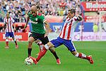 Atletico de Madrid´s Fernando Torres and Athletic Club´s Mikel Rico during 2014-15 La Liga match between Atletico de Madrid and Athletic Club at Vicente Calderon stadium in Madrid, Spain. May 02, 2015. (ALTERPHOTOS/Luis Fernandez)