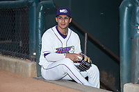 Winston-Salem Dash second baseman Nick Madrigal (3) poses for a photo prior to the game against the Lynchburg Hillcats at BB&T Ballpark on May 9, 2019 in Winston-Salem, North Carolina. The Dash defeated the Hillcats 4-1. (Brian Westerholt/Four Seam Images)