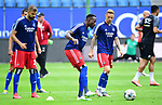 v.l. Lukas Hinterseer, Khaled Narey, Sonny Kittel (HSV)<br />Hamburg, 28.06.2020, Fussball 2. Bundesliga, Hamburger SV - SV Sandhausen<br />Foto: Tim Groothuis/Witters/Pool//via nordphoto<br /> DFL REGULATIONS PROHIBIT ANY USE OF PHOTOGRAPHS AS IMAGE SEQUENCES AND OR QUASI VIDEO<br />EDITORIAL USE ONLY<br />NATIONAL AND INTERNATIONAL NEWS AGENCIES OUT