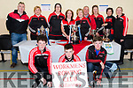 Workmens Rowing Club Killarney members at the Kerry Coastal Rowing Exhibition in Glenbeigh on Sunday.