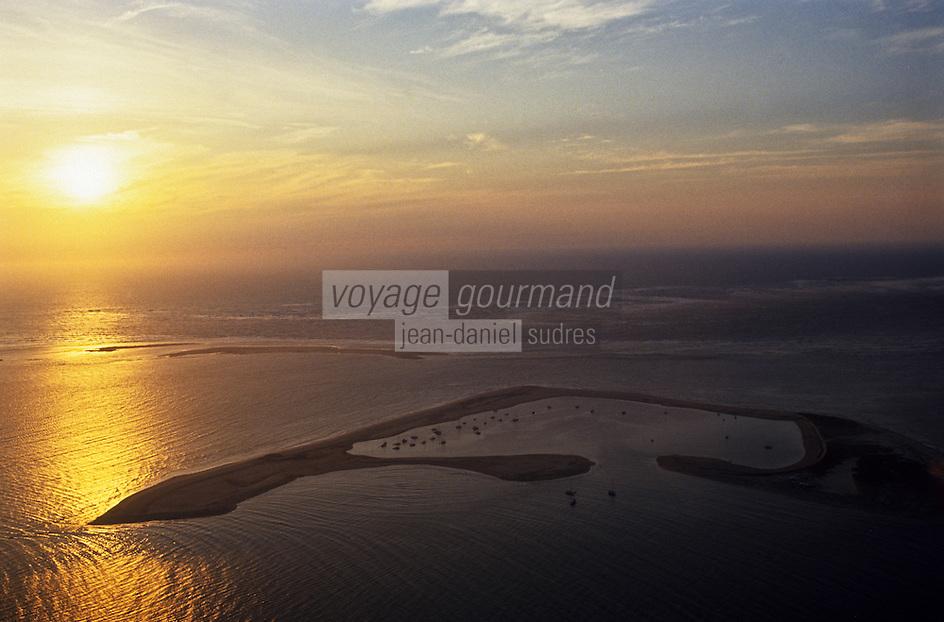 Europe/France/Aquitaine/33/Gironde/Bassin d'Arcachon/La Teste de Buch: le banc d'Arguin - Vue aérienne