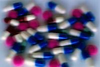 Pile of medical capsules.