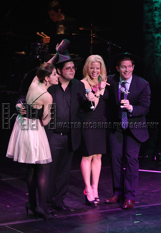Nicole Parker, Josh Gad, Megan Hilty & Rory O'Malley.performing in 'MISCAST 2012' MCC Theatre's Annual Musical Spectacular at The Hammerstein Ballroom in New York City on 3/26/2012.