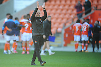 Blackpool manager Neil Critchley applauds the fans at full-time<br /> <br /> Photographer Kevin Barnes/CameraSport<br /> <br /> The EFL Sky Bet League One - Blackpool v Swindon Town - Saturday 19th September 2020 - Bloomfield Road - Blackpool<br /> <br /> World Copyright © 2020 CameraSport. All rights reserved. 43 Linden Ave. Countesthorpe. Leicester. England. LE8 5PG - Tel: +44 (0) 116 277 4147 - admin@camerasport.com - www.camerasport.com