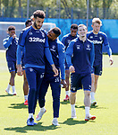 17.05.2019 Rangers training: Jermain Defoe bites Connor Goldson