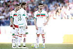 Granada Club de Futbol's Ruben Perez, Ruben Rochina and Fran Rico during La Liga match. April 17,2016. (ALTERPHOTOS/Acero)